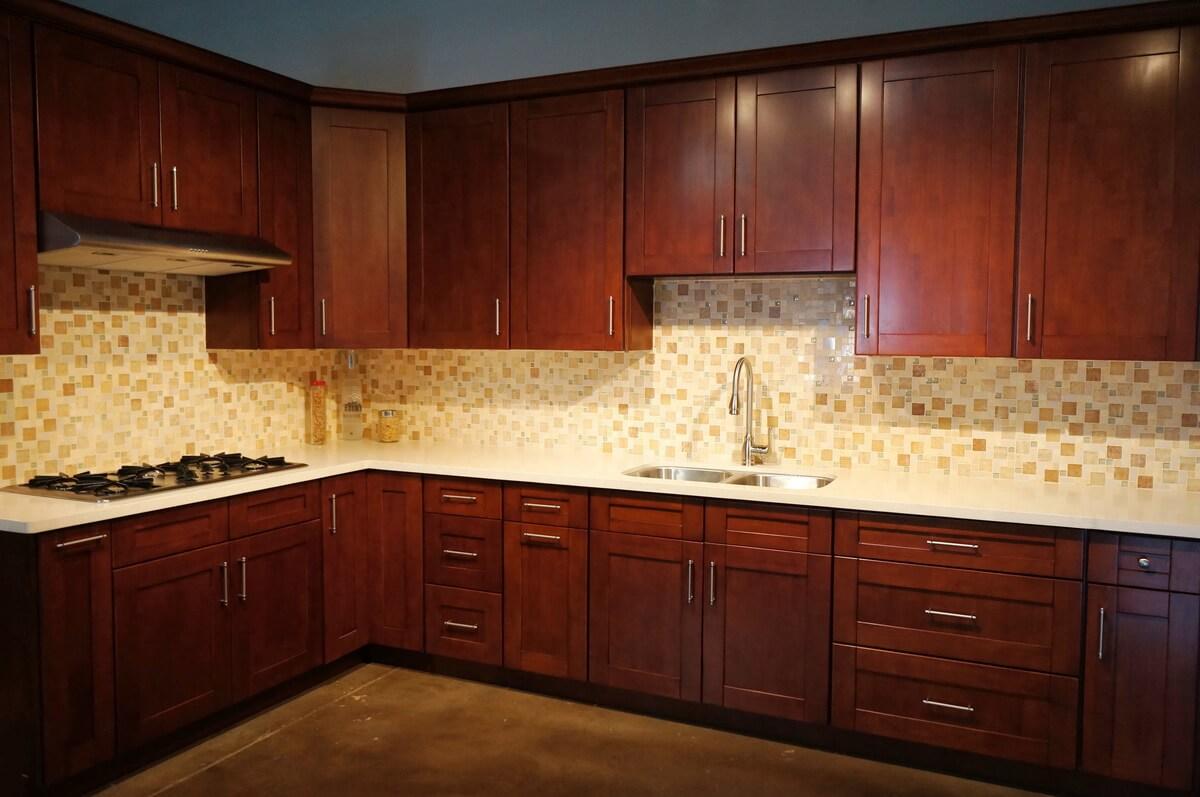 Mahogany Wood Cabinets ~ Mahogany shaker rta cabinets cabinet city
