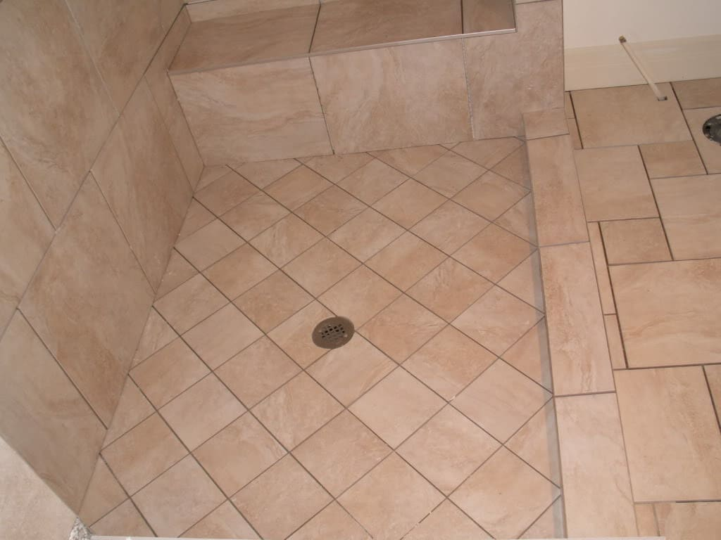 Cabinet city upgrading to a quality shower floor for Warm feel bathroom floor tiles