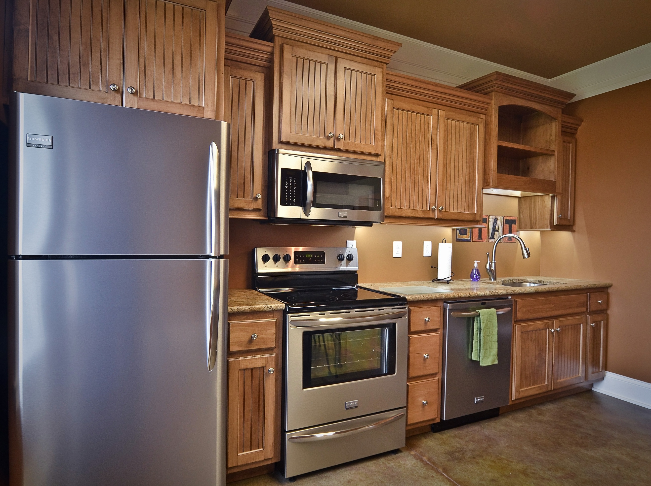 Beautiful-stained-RTA-kitchen-cabinets