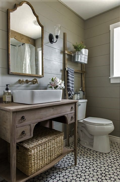 beautifully-accessorized-bathroom-rustic-simple-vanity-with-tiled-floors