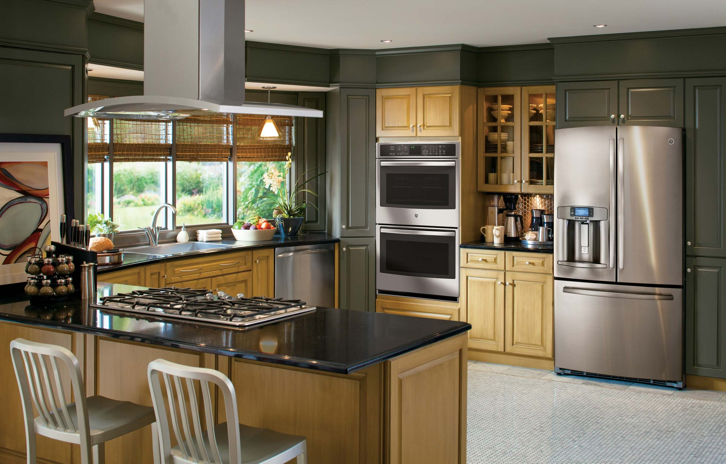 Stainless-steel-appliances-in-a-modern-kitchen.